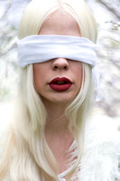 A Twisted Fairytale blindfolded woman by Phil Jones Photography