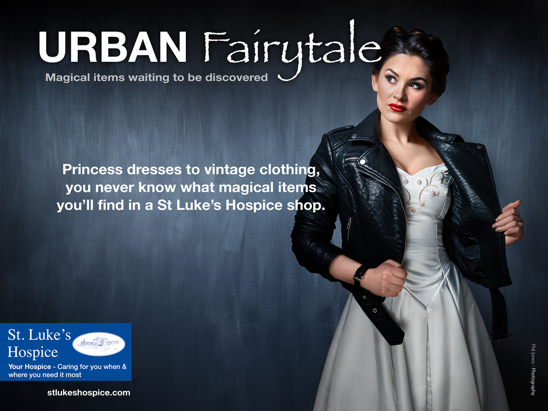 Urban Fairytale A promotional photoshoot for St Lukes Hospice Basildon to bring awareness to St Luke's Charity Shops in Basildon and surrounding area.