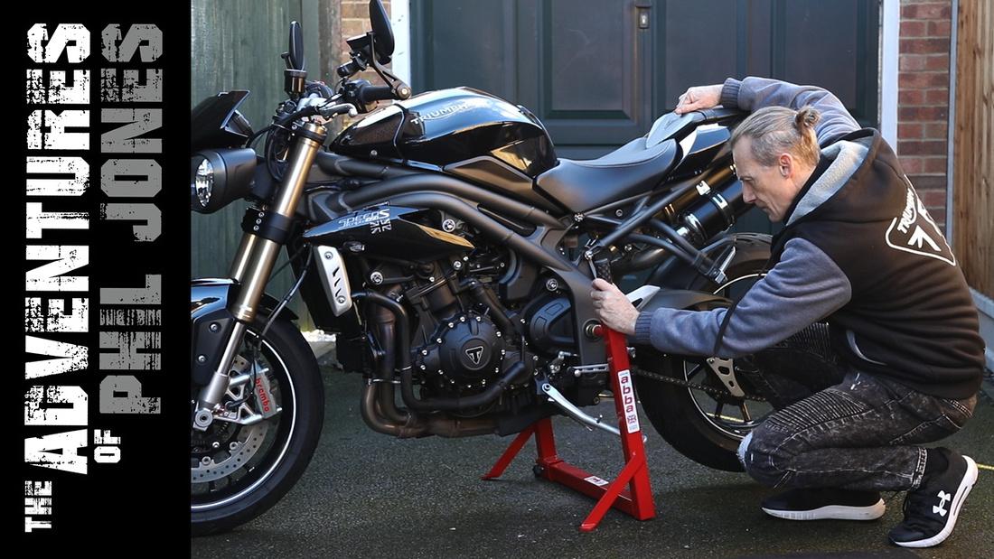 YouTube Thumbnail design - The adventures of Phil Jones Motorcycle Vlog