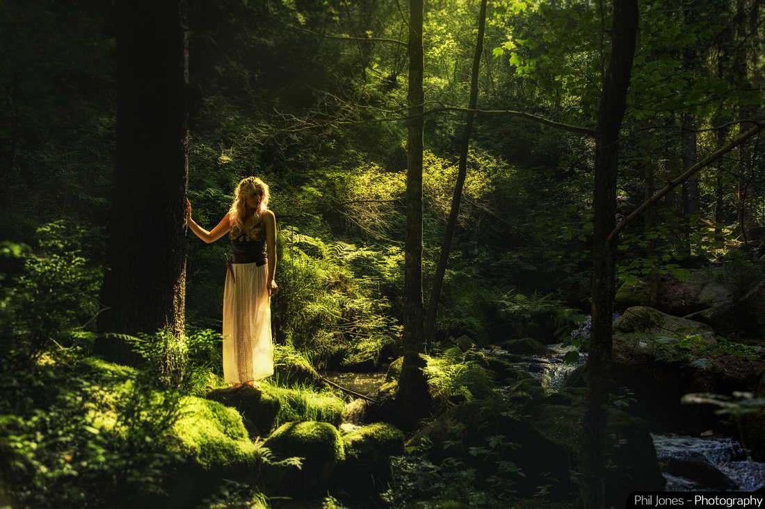 Female Elf at night fall - fantasy art photography by Phil Jones