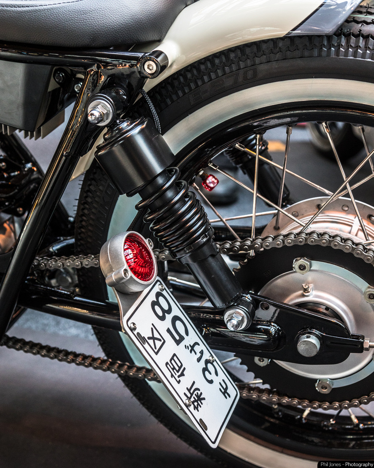 Bike Shed show 2019 Smith and Son Motorcycles. Yamaha SR400, Japanese style custom motorcycle.