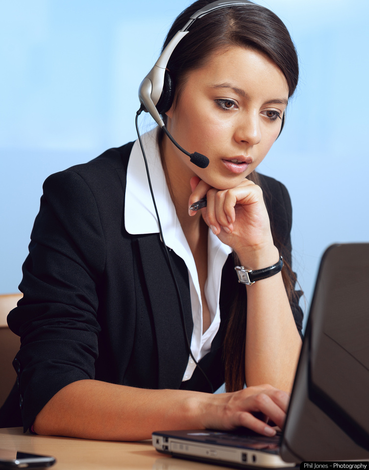 Commercial image of Business woman at work