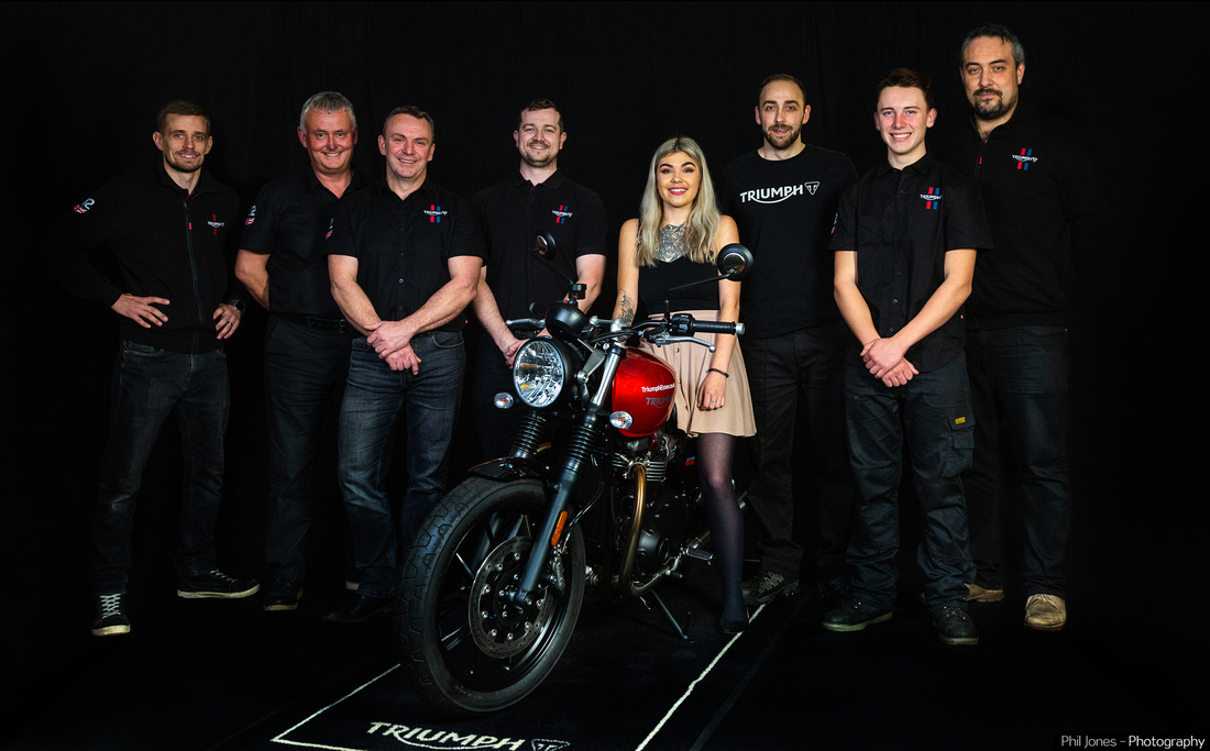 Event photography image for motorcycle dealer Lings Triumph Essex