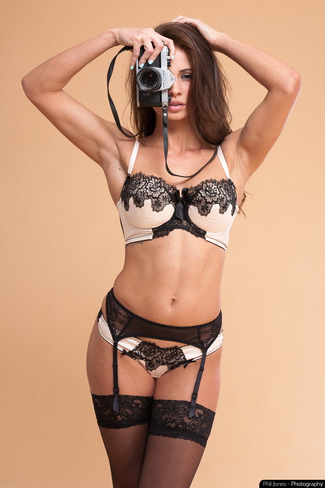 Lingerie studio photography