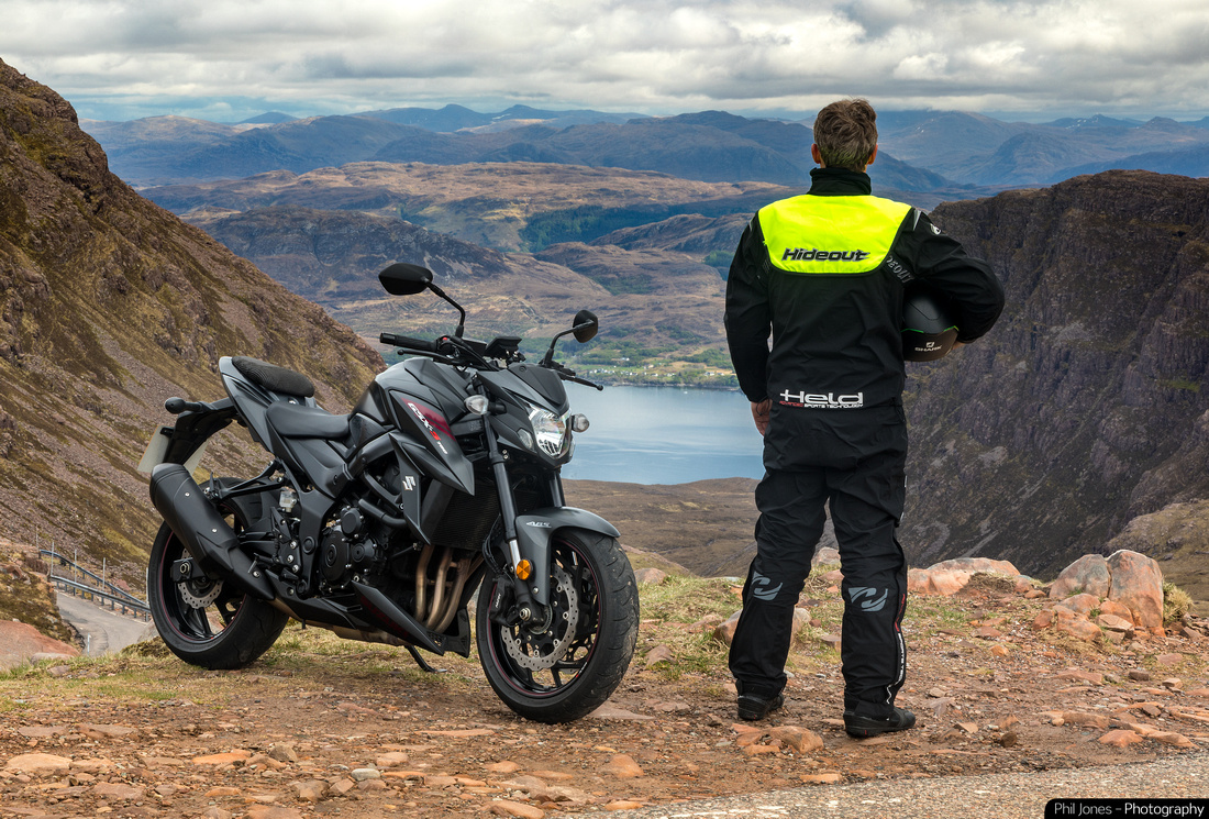 Lifestyle motorcycle clothing photography for Hideout Leather