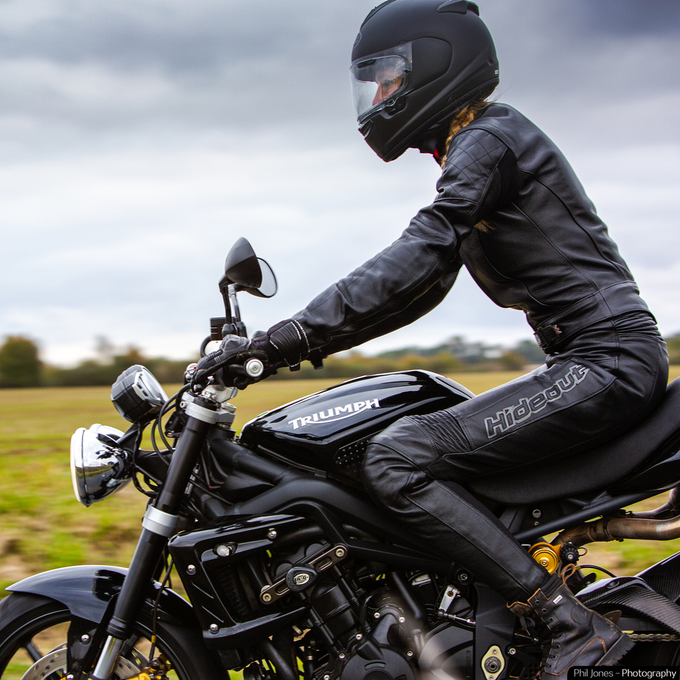 Hideout Leather motorcycle photography