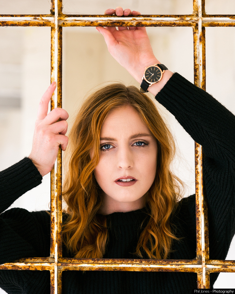 Model Beth Smith wearing New Look clothing and watch