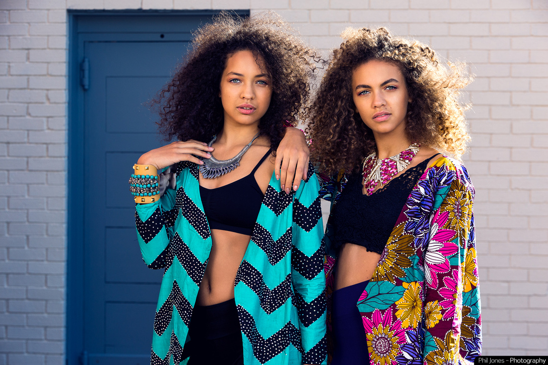 Essex based Fashion Photographer with Ella and Evie Walker