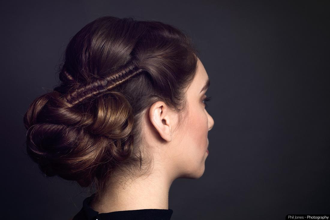 Model Lucy Allen showcases Tara Johnstons infinity braids.