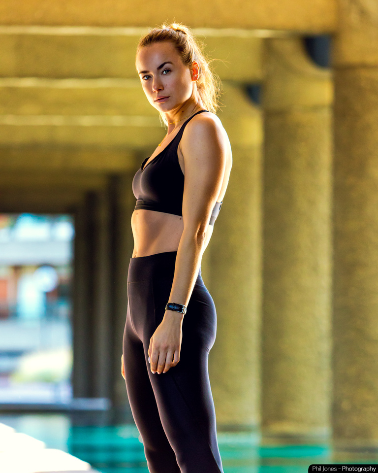 Fitness photography with Imogen Leaver. Image by Phil Jones Photography
