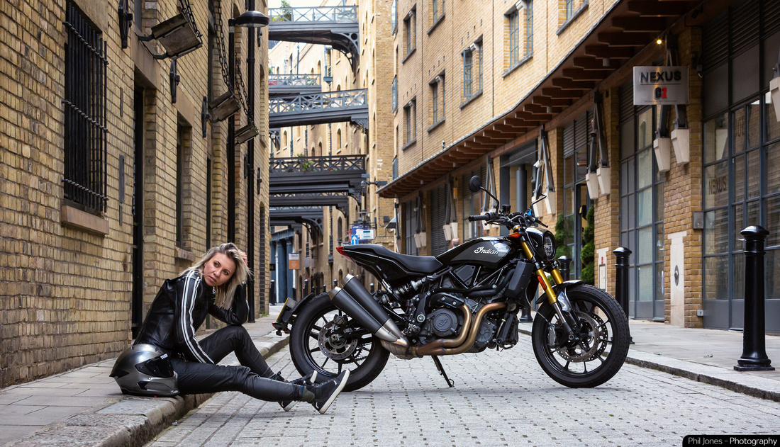 Motorcycle lifestyle photography with Tomboy_A_Bit in Shad Thames