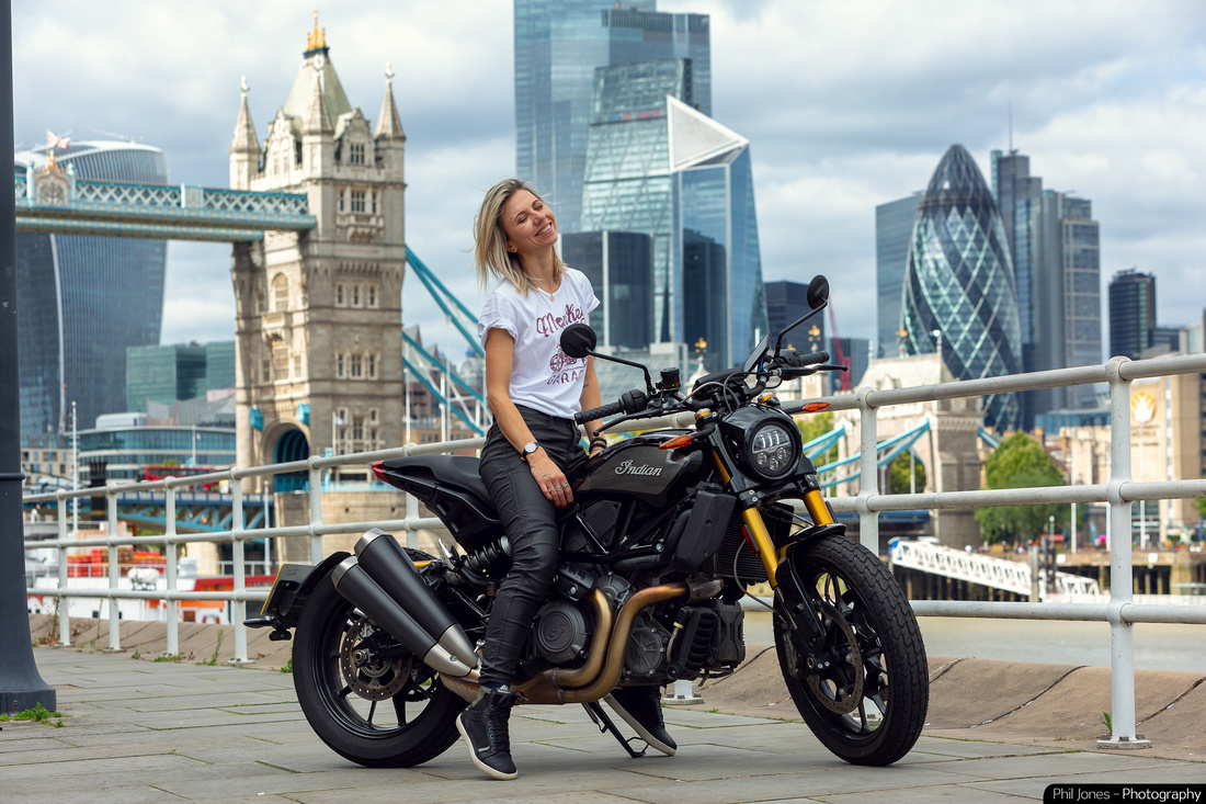 Motorcycle lifestyle photography with Tomboy_A_Bit at Tower Bridge London