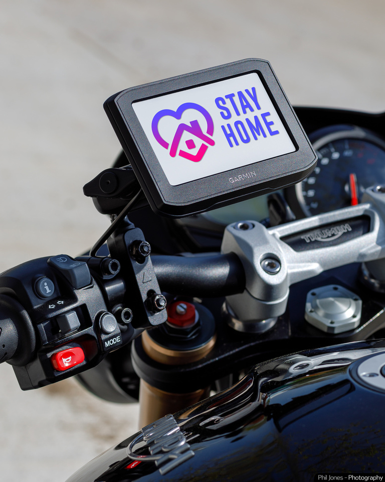 Garmin encourages bikers to Stay Safe, Stay at Home.