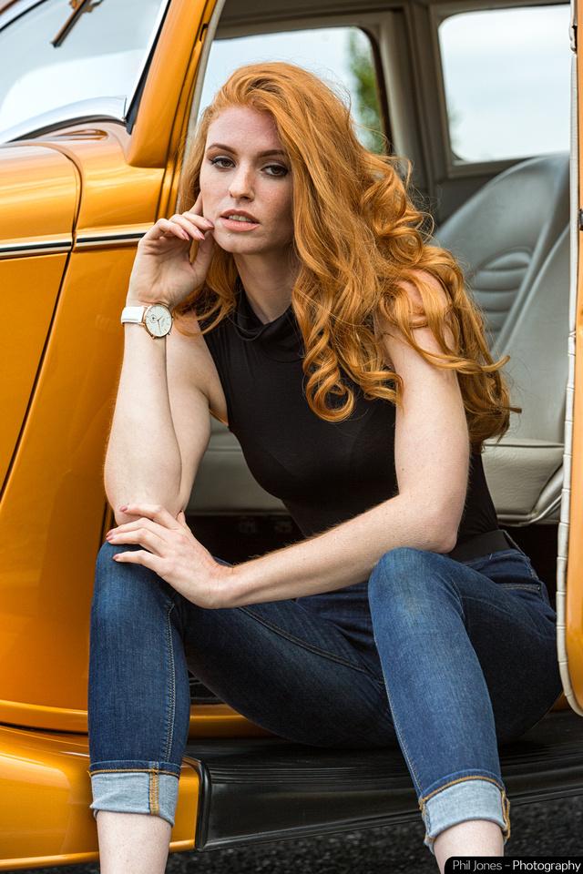 Model Grace Gray wearing Ma-Ga London Whitechapel watch inside wrist