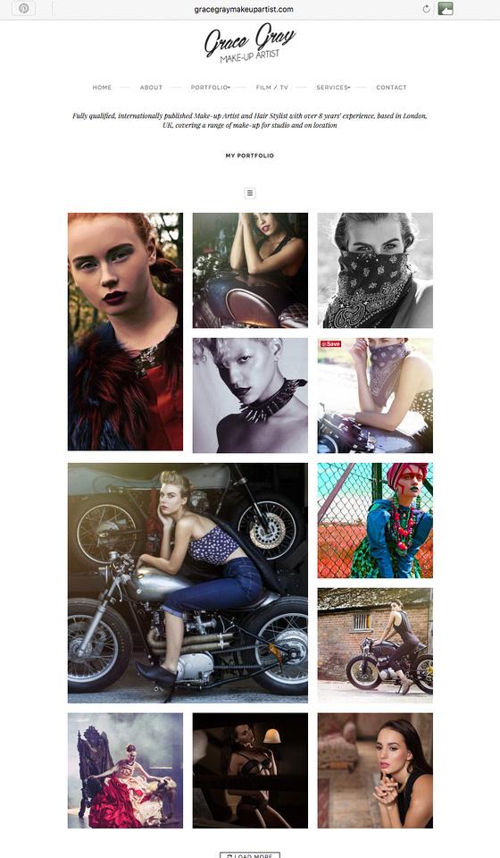 Grace Gray Make-Up Artist new website