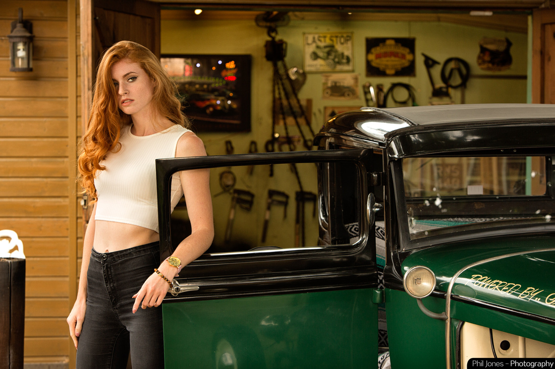 Creative advertising photography. Commercial photoshoot with VHRA model A Ford