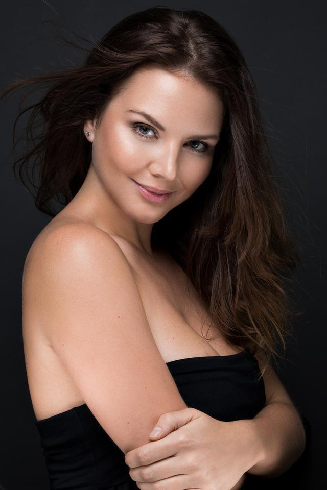Studio portrait of model Jamila Wardknott