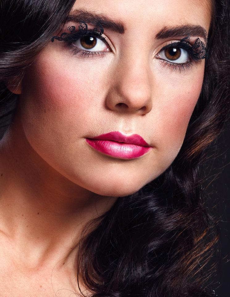 Beauty shot of model Rosey