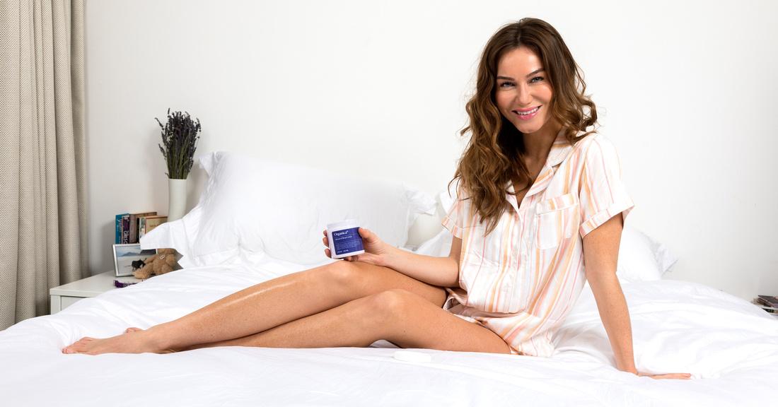 Organica Sleep Lotion commercial photo shoot with model Karolina