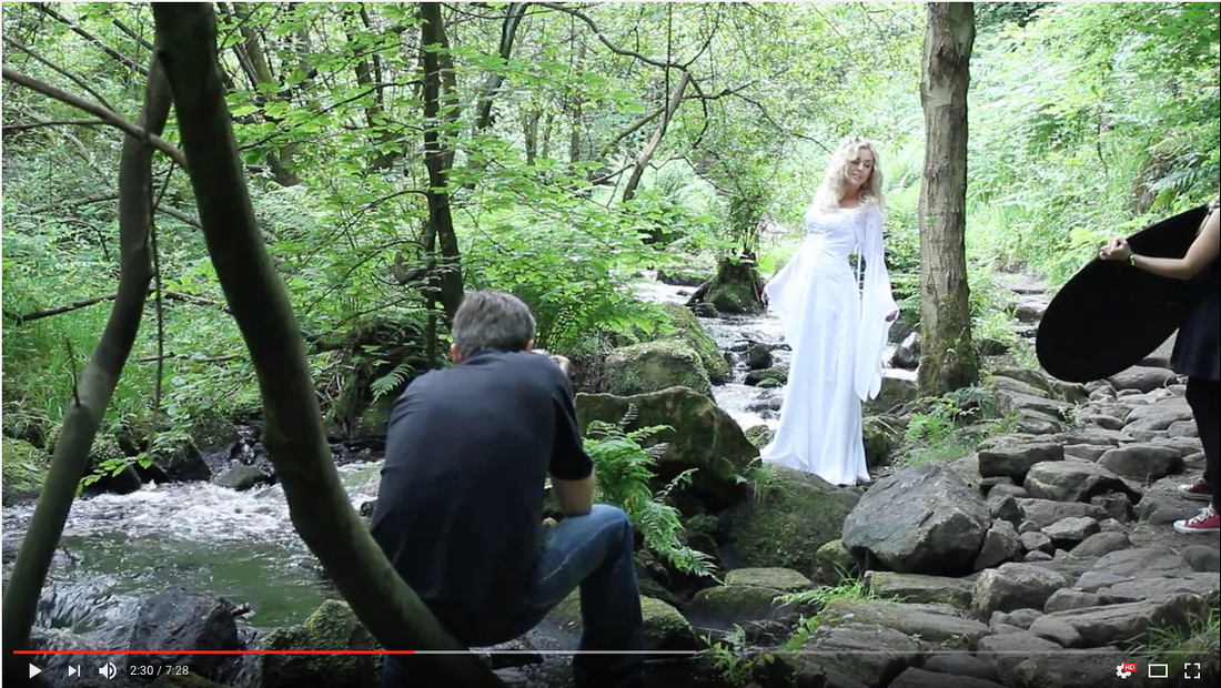 Watch my ethereal shoot to see how we mixed flash with a reflector