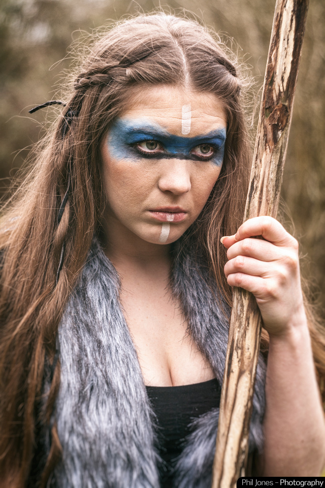 Tribal Warrior Fantasy Art Photoshoot